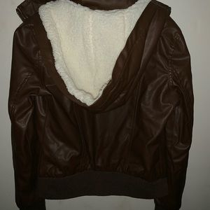 New Look Brown Leather Jacket